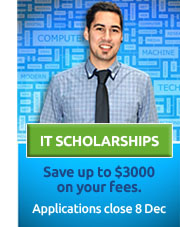 IT Scholarships now on offer. Click for more more details